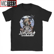 Space Pirate Tshirt for Men Harlock Captain Manga Anime Casual Cotton Crew Neck Tshirt Graphic 3D Print(China)