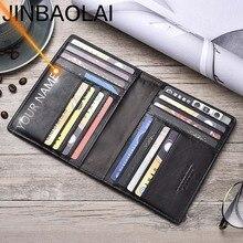 Nazwa grawerowanie mężczyzn portfele Slim 100% oryginalna skóra bydlęca portfel na karty cienkie rocznika wysokiej jakości posiadacz karty mężczyzn portfele