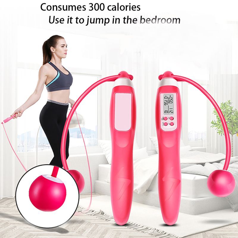 Fitness Jump Rope Ropeless Wireless Cordless Calorie Counter Electronic Counting Skip Ropes Women and Men Body Building Accessor 1