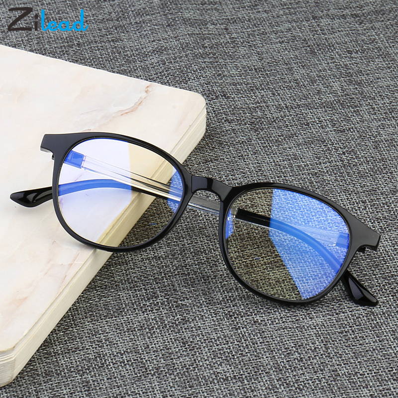 Zilead Plain Untralight Reading Glasses Women Eye Protection Anti Radiation Eyeglasses Men Anti Blue Rays No Degree Flat Glasses