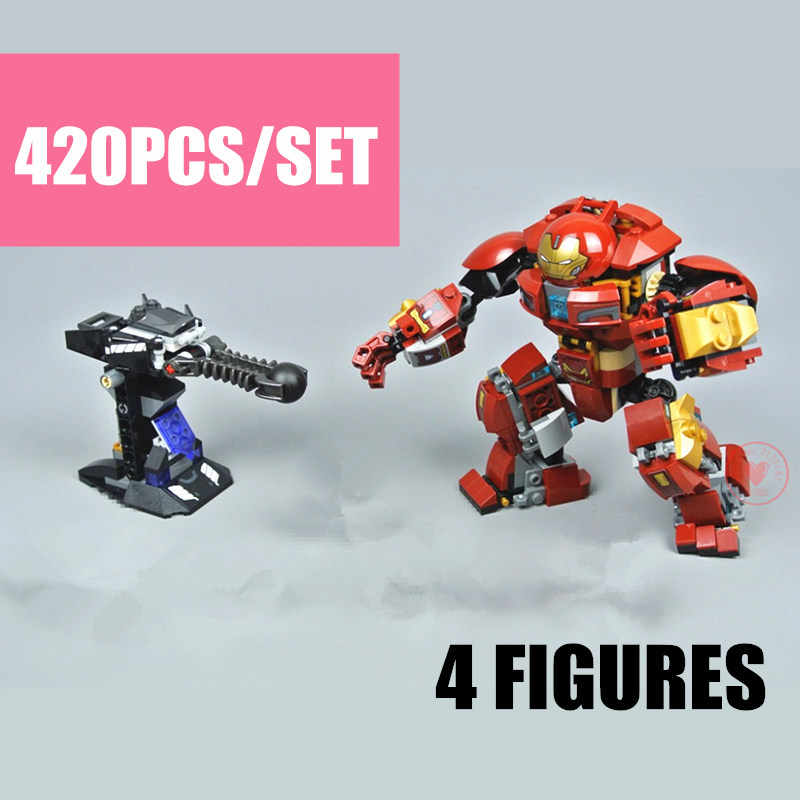 New Super Heroes Marvel Iron Man Fit Legoings Avengers Hulkbuster Figures Marvel Building Blocks Brick Kid Toy Gift Birthday