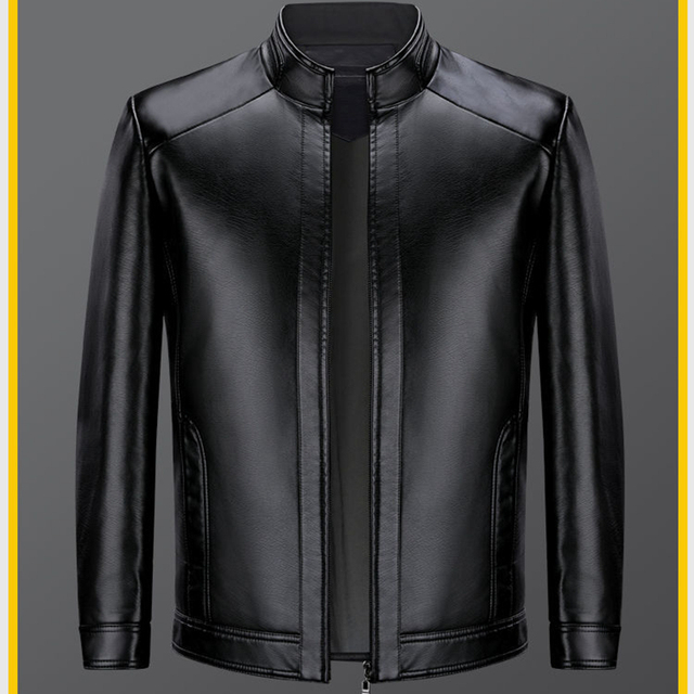 Brand Men Jacket 2020 New Spring Fall Soft Leather Jackets For Man Clothing Long Sleeves Coat Fashion Korean Style Thin Clothing 3