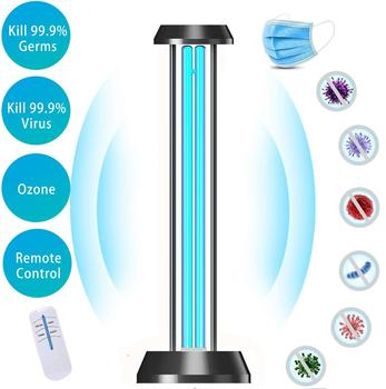 36W UV Double Tube Sterization Ultraviolet Lamps UV Germicidal Light With Remote Control Timer Disinfection Air Ozone