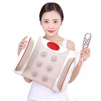 Lumbar Traction Device Waist Back Massage Pillow Temperature Controlled Heat Moxibustion Massager Magnetic Therapy Car Cushion