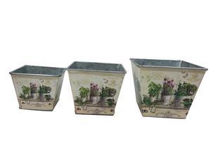 Image 1 - 12 juegos por lote, D14XH11.5CM, florero pequeño, macetas, centro de mesa de hierro para Pascua y decoración del hogar al por mayor