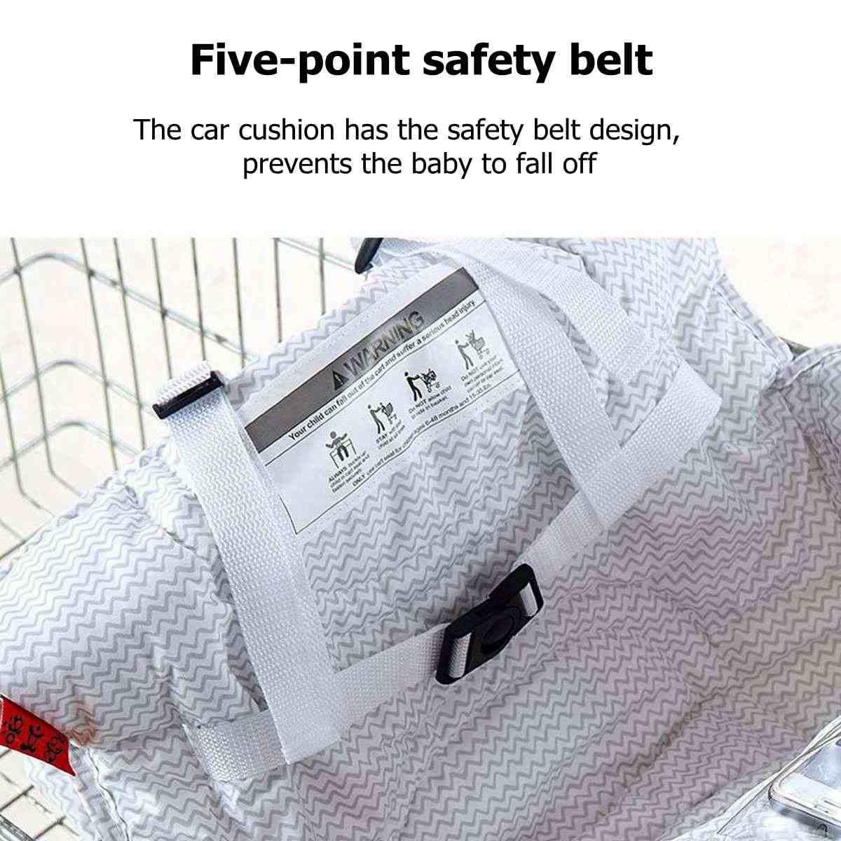متعددة الوظائف الطفل الأطفال عربة تسوق قابلة للطي غطاء الطفل التسوق دفع عربة غطاء للحماية مقاعد السلامة للأطفال