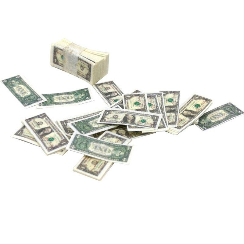 2 Bundle 1:12 Dollhouse Banknotes Pocket Fine for BJD Doll Accessory Parts A