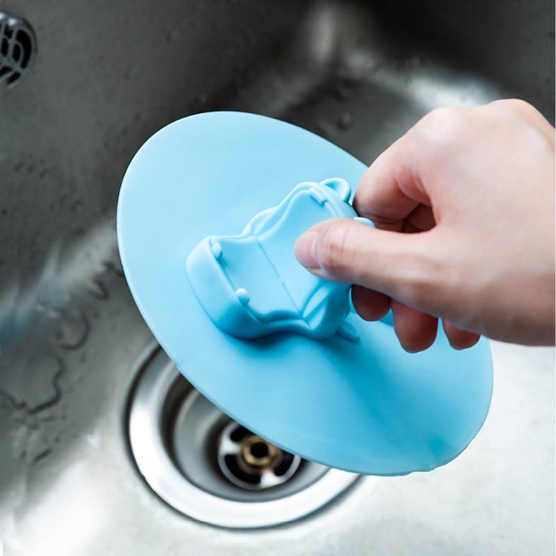 Rubber Bath Tub Sink Floor Drain Plug Kitchen Water Laundry Stopper Tool Cap Hat