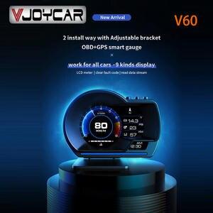 Vjoycar Hud-Gauge Head-Up-Display Alarm-Water Odometer-Security Smart-Car V60 Digital