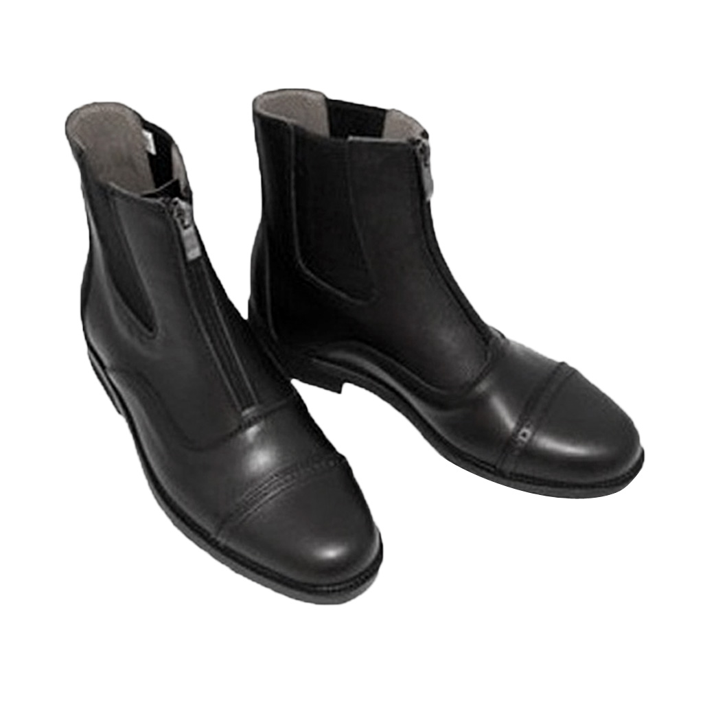 Paddock & Jodhpur Boots Zip Front Horse Riding Boots Waterproof Black