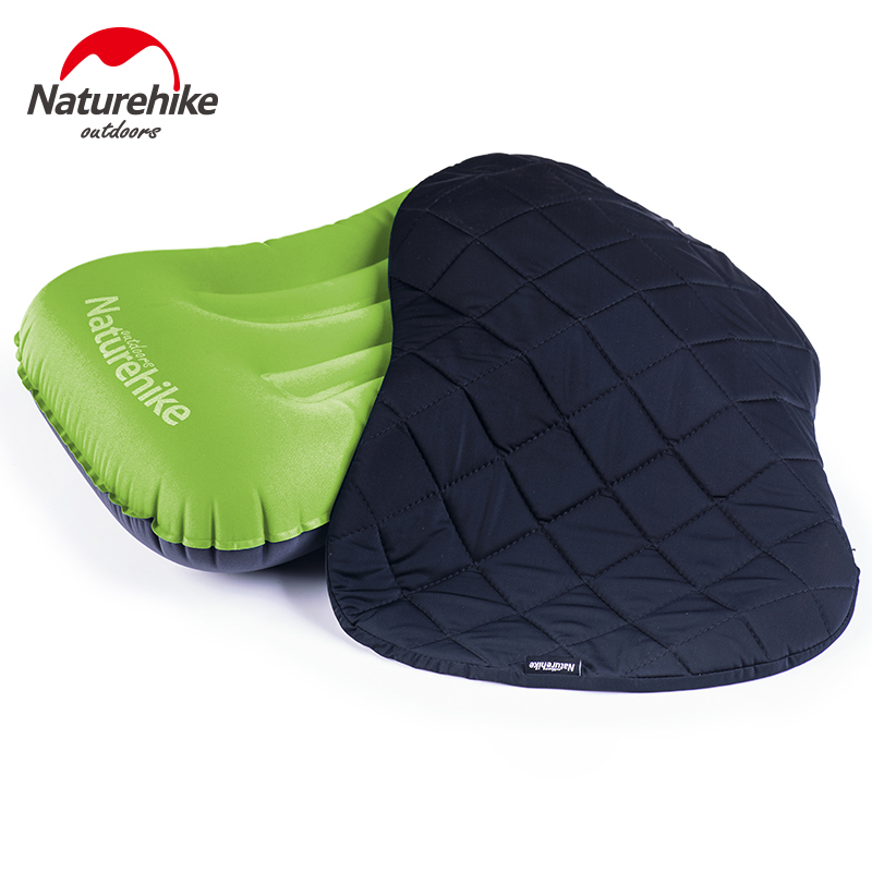 Naturehike Outdoor Inflatable Travel Pillows Pillow With Cover Set Fast Portable TPU Fabric Ultralight Camping Pillow NH17T013-Z
