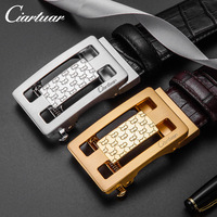 2019 Ciartuar Design Men Belt Leather Belt Mens Crocodile Embossing lattice gold Belt Black Ceinture Homme riem gürtel cintura