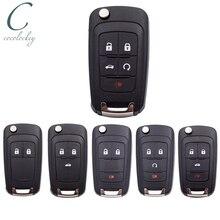 Cocolockey Flip Remote Car Key Shell Key Fob Fit for Chevrolet Chevy Cruze Malibu Camaro Aveo Equinox  Impala Sonic Folding Key