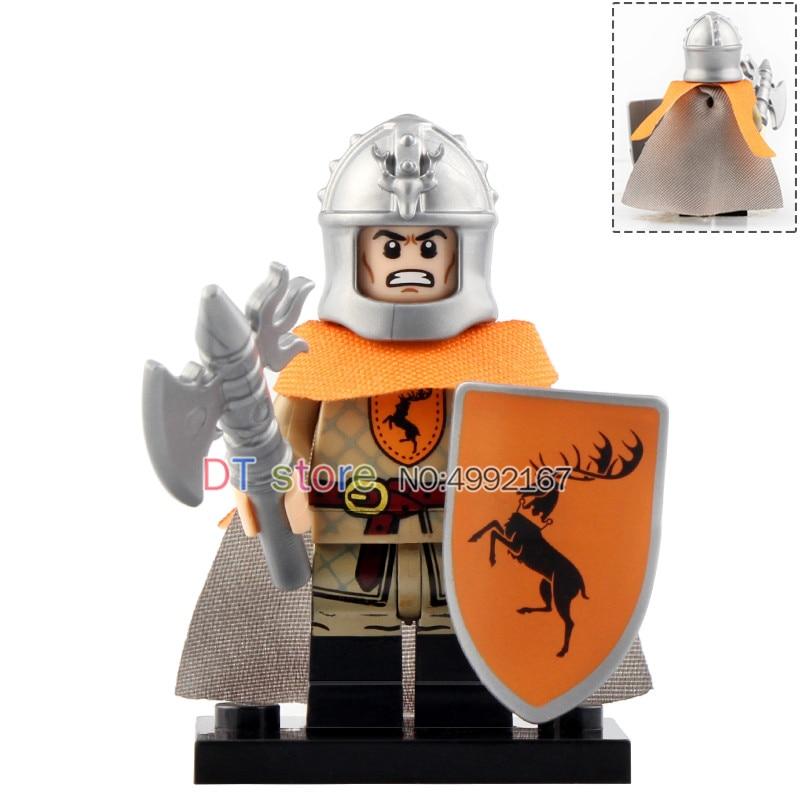 10PCS Game of Thrones House Stark Eddard Archer Mini Figure Building Blocks Toy