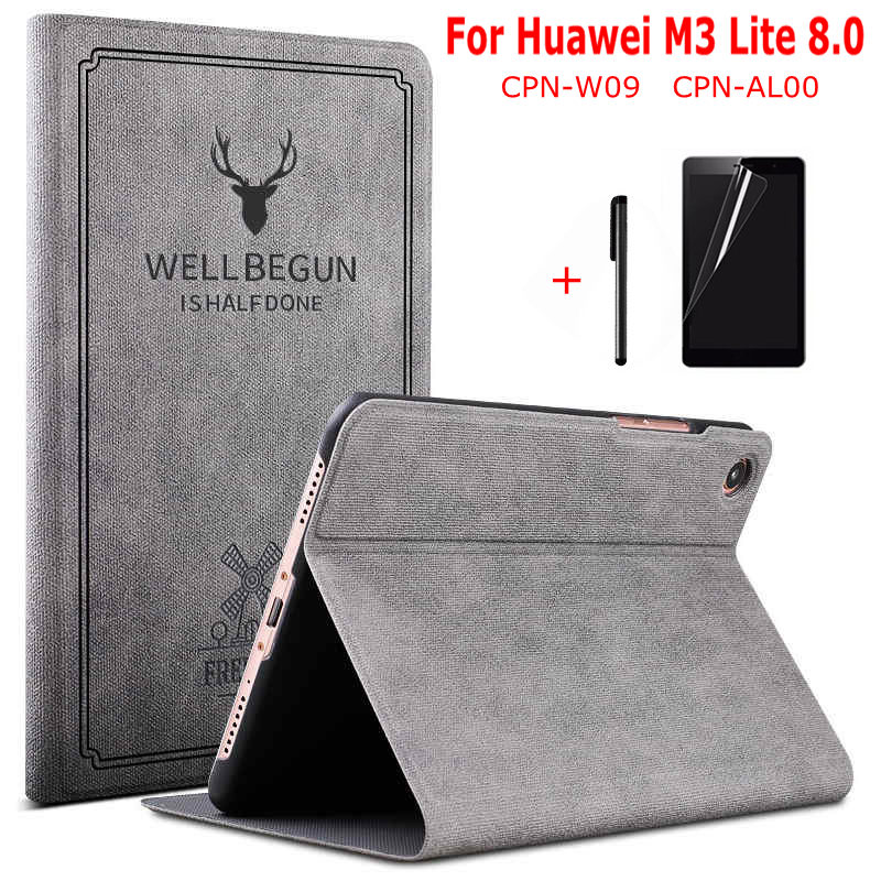 Magnetic Smart PU Leather Cover For Huawei MediaPad M3 Lite 8.0 CPN-W09 CPN-AL00 8.0