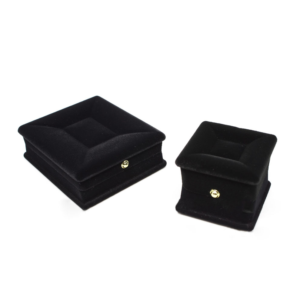 1PC Velvet Black Necklace Jewelry Gift Display Box Ring Bracelet Storage Case Wedding Engagement Ring Box Jewelry Display