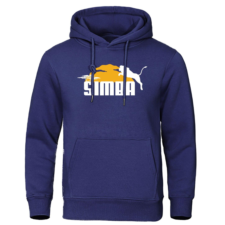 Simba The Lion King Hoodies Sweatshirts Autumn Winter Hoodie Streetwear Fleece Warm Jumper Coat Tracksuit Anime Print Pullovers