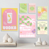 Malibu-cuadro sobre lienzo para pared, carteles nórdicos, imágenes de pared para decoración para sala de estar
