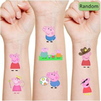 Со Свинкой Пеппой; Наклейки предметы для вечеринки, сувениры подарки для детей красочные металлические Временные татуировки, наклейки для ...