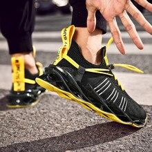 Chaussures de sport de haute qualité pour hommes, baskets de course, tissées, respirantes, de combat décontracté, à haute élasticité