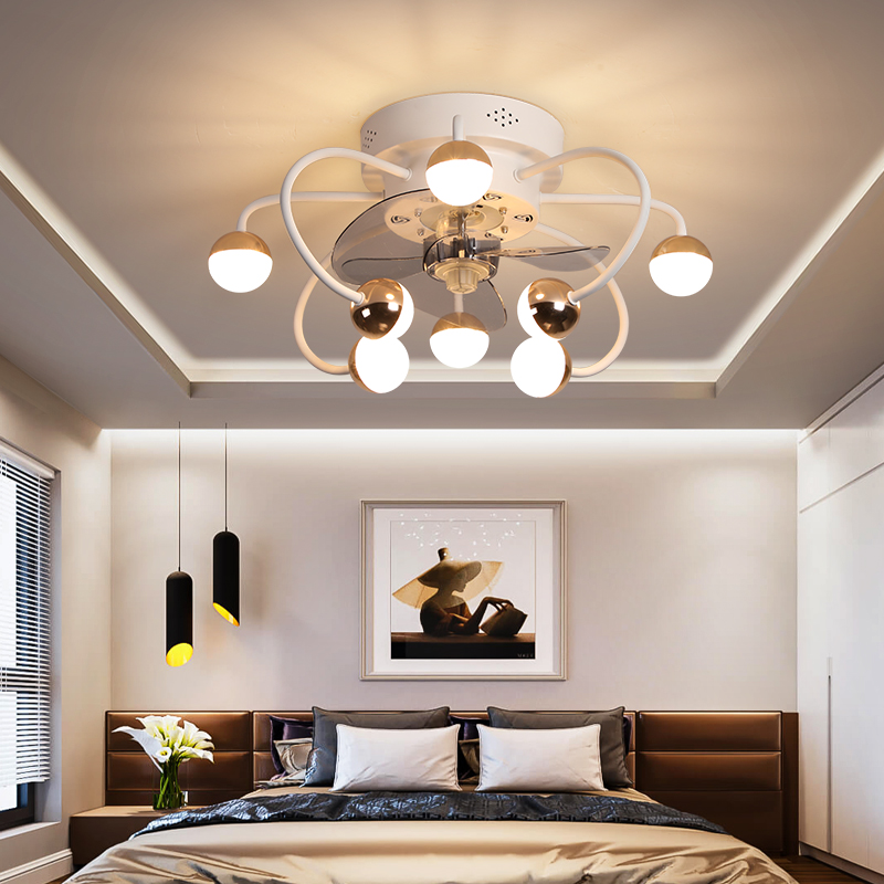 Ingenious Modern Remote Control Ceiling Fan Light Bedroom Dining Room Living Room Light Electric Fan Integrated Ceiling Fan Light To Ensure A Like-New Appearance Indefinably