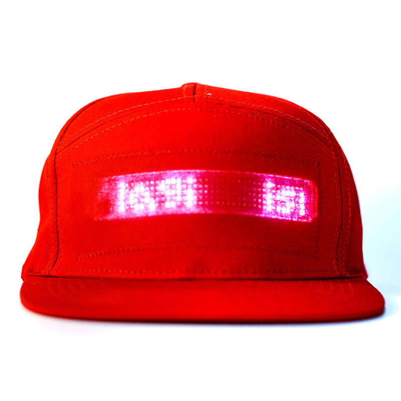 Hip Hop Hats For Men Women Bluetooth LED Hat Programmable Credit Roll Message Display Board Baseball Hip Hop Party Golf Cap