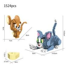Mini Bricks Toys Building-Blocks Anime Figures Micro Diamond Jerry Cartoon Tom-Model