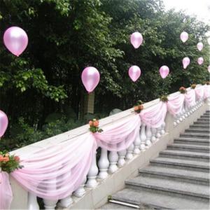Image 5 - 10m 48cm Bride Party Decor Wedding Organza Tulle Fabric Sheer Swag Backdrop Curtain Rustic Wedding Decoration Party Event