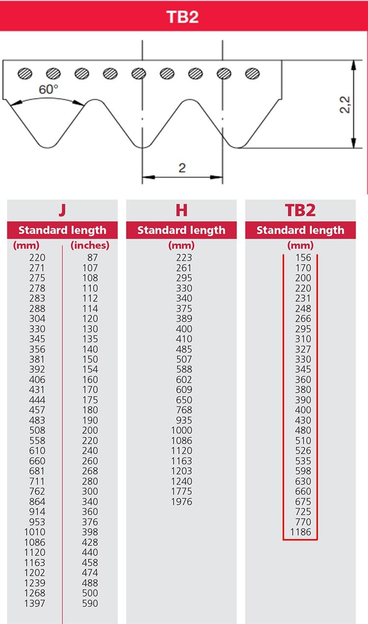 Correa trapezoidal TB2 770-4