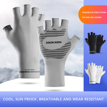 Men Outdoor Cycling Mountain Bike Gym Exercise Gloves Half Finger Gloves Anti-Slip Shock-Absorbent Ice Silk Half Finger Gloves half mountain