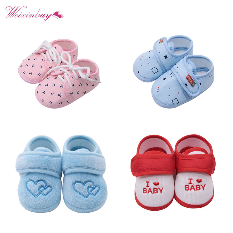 Cheap Baby Shoes Pure Cotton Newborn Baby Girl Boy Shoes Toddler First Walkers Baby Moccasins Sneaker Crib Shoes For 0-18 M