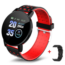 Fitness Bracelet Smart-Watch Waches Bluetooth 119-Plus Monitor Blood-Heart-Rate Android
