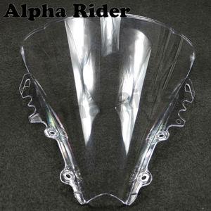 Image 5 - الزجاج الأمامي الأبيض فقاعة مزدوجة ABS للدراجات النارية لياماها YZF 600 R6 06 07 واضح الزجاج الأمامي YZF 600 R6 2006 2007 يندبروف الزجاج