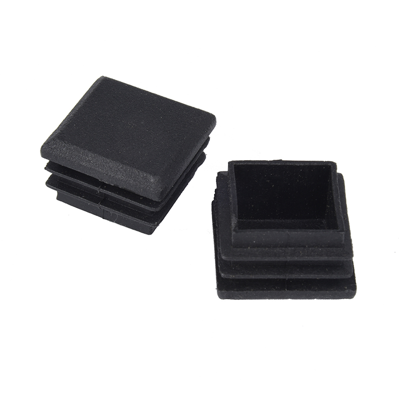 Hot XD-10 Pcs Black Plastic Square Tube Inserts End Blanking Cap 25mm X 25mm