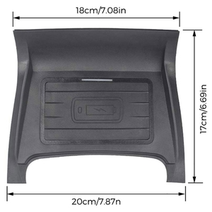 Image 3 - Car Qi Wireless Phone Charging Pad Module For Land Rover Discovery Sport 2015 2019 Fast Charging Case Plate Central Console Stor