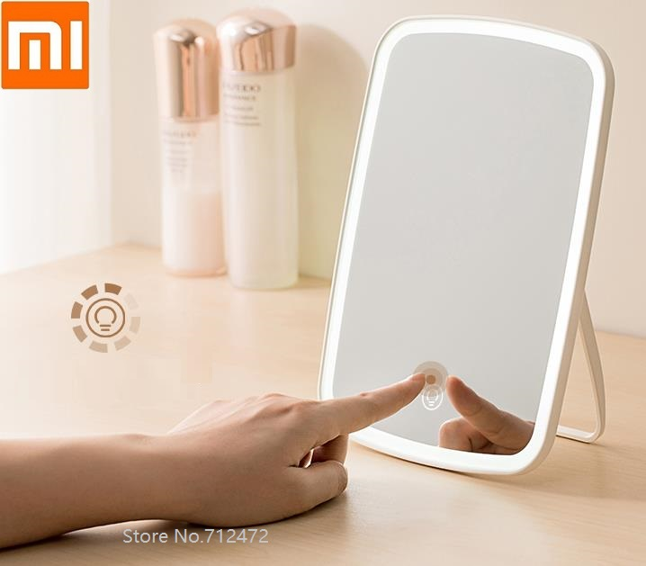 Xiaomi Mijia Makeup Mirror Led Light Portable Folding Mirror Fill Light Dormitory Home Desktop Mirror