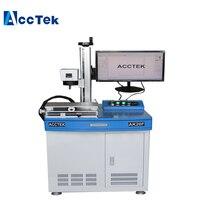 AccTek new fiber laser/fiber laser marker machine /fiber laser machine AK20F with two dimensional workbench.|Wood Routers| |  -