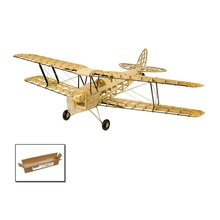 EP Mini Tiger Moth Balsa Wood Training Plane 1M Wingspan Bip