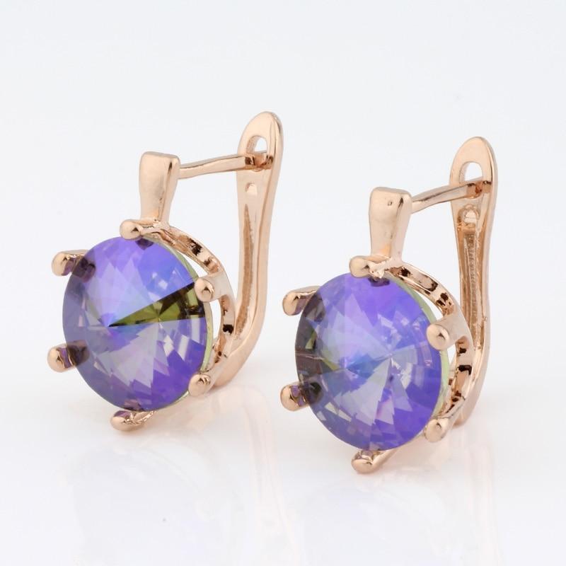 Mode Ohrringe 2020 Runde 585 Rose Gold Farbe Ohrringe Baumeln Ohrringe frauen ohrringe Hochzeit Schmuck Koreanischen stil|Ohrhänger|   - AliExpress