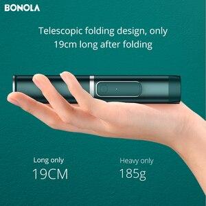 Image 5 - Bonola Draagbare Geïntegreerde Statief Selfie Stok Verborgen Telefoon Beugel Bluetooth Knop Telefoon Zelfontspanner Hendel Houder Voor Telefoon