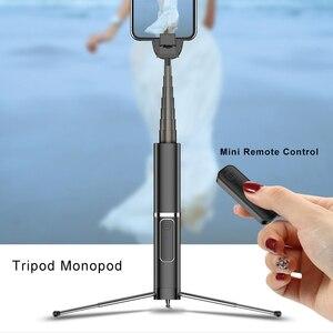 Image 4 - Mini Artifact extensible sans fil Selfie bâton Autodyne pour iPhone 11 Huawei 5G Samsung sans fil Bluetooth trépied Selfie bâton