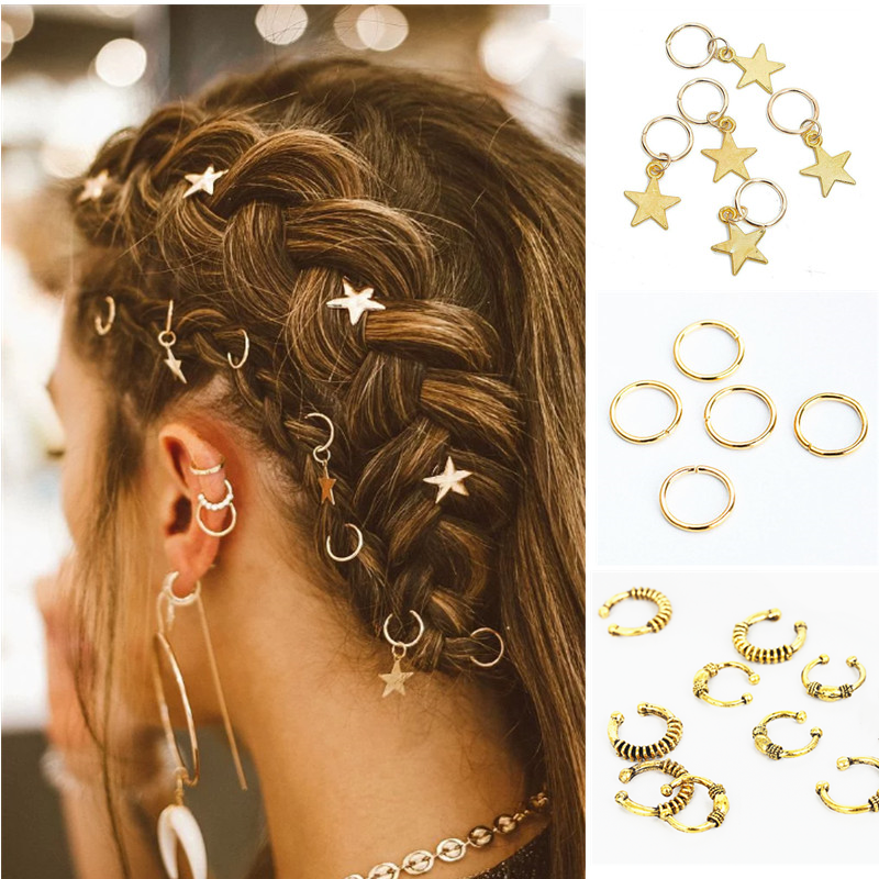 5 шт. упак. различные 39 стилей, подвески для волос, тесьма, Dread Dreadlock, бусины, клипсы, манжеты, кольца, ювелирные изделия, застежки Dreadlock, аксессуары Заколки для плетения кос      АлиЭкспресс - Для красоты и здоровья