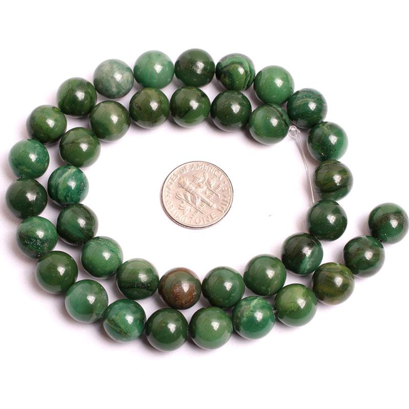 6 mm 8 mm 10 mm Jades africanos verdes (jadeíta) Cuentas de cuentas - Bisutería - foto 4