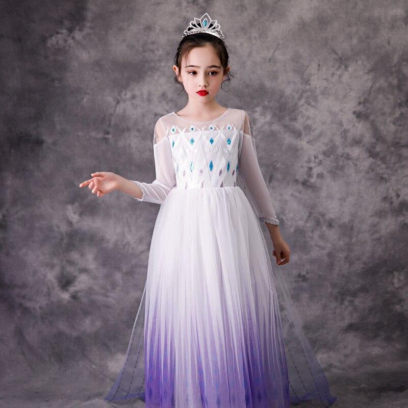 Image 3 - Menina princesa congelado neve rainha elsa festa cosplay traje vestidoFantasias p/ meninas   -