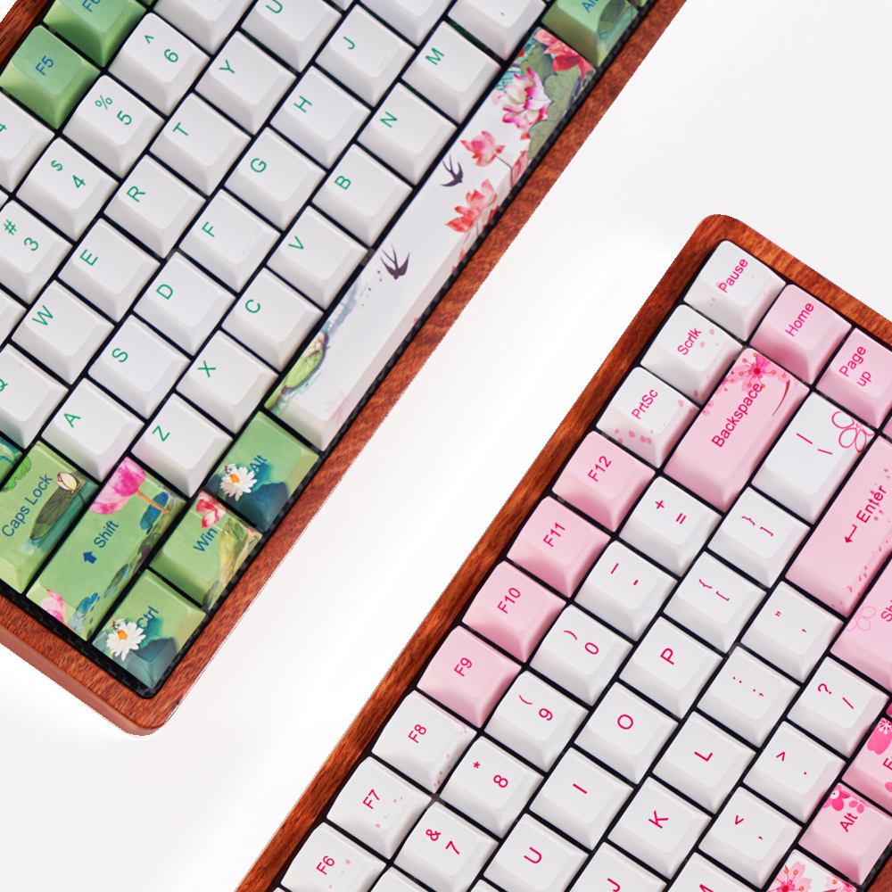 Gk84 Mechanical Keyboard Pcb 75%  Wooden Case Custom Light Rgb Bluetooth 4.0 USB Dual Mode