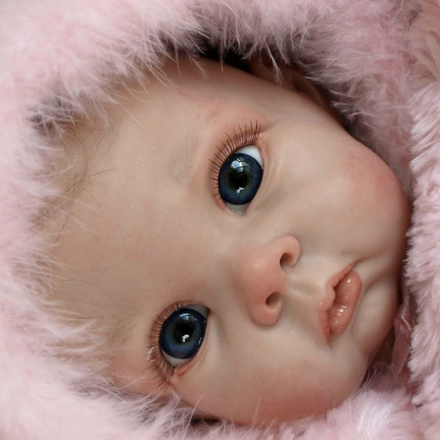 22inch Cute Blank Reborn Baby Doll Kit DIY Toy With Body Eyes Soft Vinyl Realistic Accessories Gift Unfinished Unpainted 2