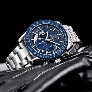 Image 4 - 2020 Horloge Mannen Luxe Merk Benyar Mannen Blauw Horloge Roestvrij Staal Horloge Mannen Chronograaf Horloge Mannen Relogio Masculino