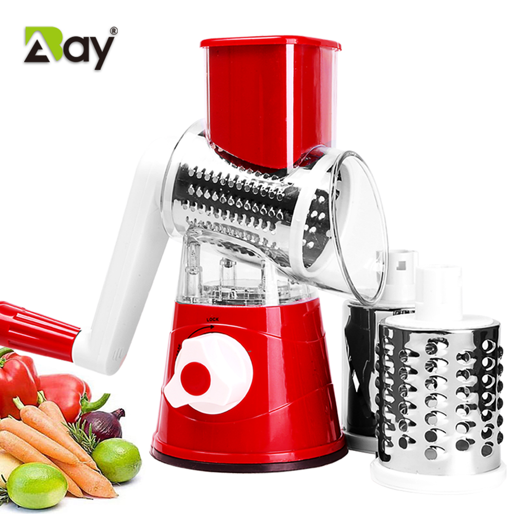 Vegetable Slicer Manual Kitchen Accessories Vegetable Chopper 3 in 1 Round Grater Mandoline Cutter Potato Home Gadget Tools Item
