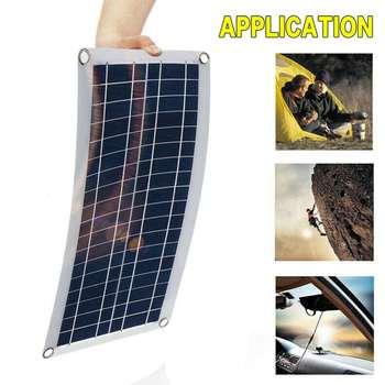 50W Solar Panel 12V 5V USB Portable Solar Panel Cells+ 10/20/30/40A Controller for Car Yacht RV Charging Outdoor Emergency Light 3