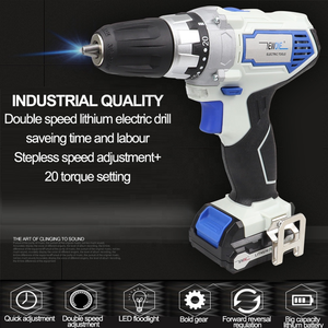 Image 3 - NEWONE 12V 2000mah Power Tools Angle grinder And Electric Drill With Two Lithium Battery And One Charger